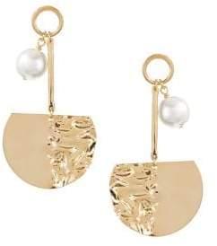 HBC BIKO X Faux Pearl Joy Ride Stud Drop Earrings