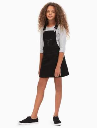 Calvin Klein girls dark denim studded skirtall overall