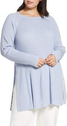Eileen Fisher Slit Organic Linen & Cotton Tunic