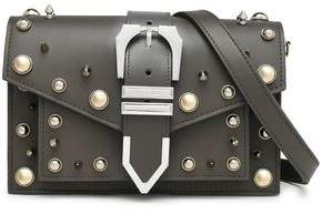 Versace Studded Leather Shoulder Bag