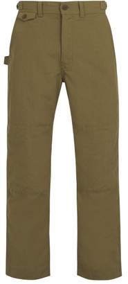 Snow Peak Takibi Cotton Blend Ripstop Trousers - Mens - Khaki