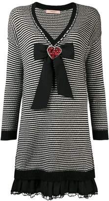 Twin-Set embellished heart dress