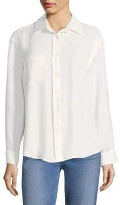 7 For All Mankind High Low Tie Button-Down Shirt