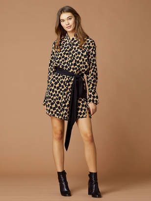 Diane von Furstenberg Long-Sleeve Silk Shirt Dress