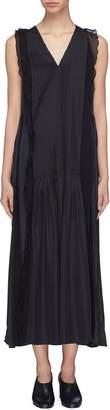 3.1 Phillip Lim Ruffle trim pleated sleeveless dress