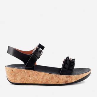 FitFlop Women's Ruffle Back Strap Sandals - Black