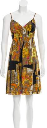 Trina Turk Silk Printed Mini Dress