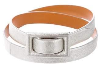 Ralph Lauren Metallic Leather Belt