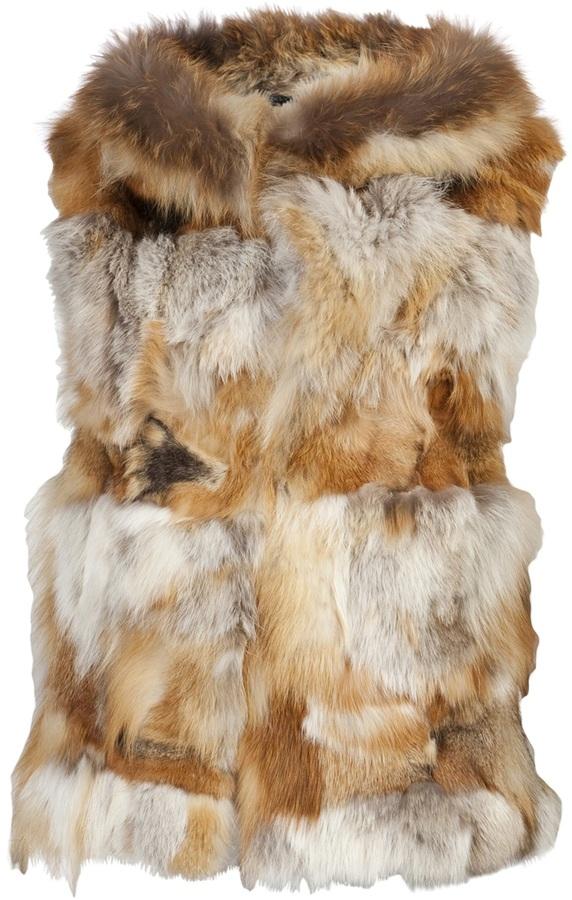 Jocelyn fox fur vest