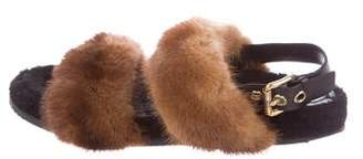 Car Shoe Mink & Shearling Sandals
