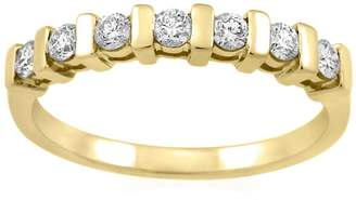 Scala Monarc Jewellery - The Stacker Ring 9ct Gold And White Sapphire