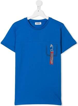 Moschino Kids printed pocket T-shirt