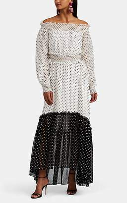 Laura Garcia Collection Women's Frederica Polka Dot Silk Off-The-Shoulder Dress