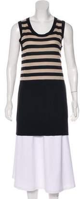 Akris Punto Striped Sleeveless Knit Top