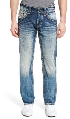 Men's Rock Revival Straight Leg Jeans $164 thestylecure.com