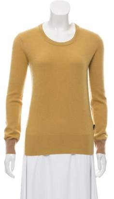 Burberry Cashmere Scoop Neck Sweater Yellow Cashmere Scoop Neck Sweater