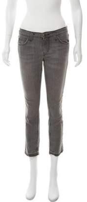 Current/Elliott Medium-Rise Cropped Jeans