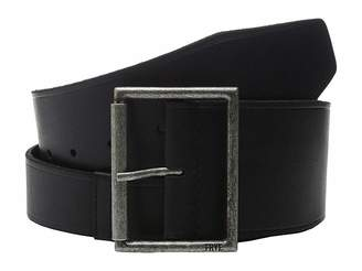 Frye 65mm Shaped Leather Belt with Heat Crease on Pilgrim Roller Buckle Women's Belts