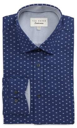 Ted Baker Endurance Trim Fit Dot Print Dress Shirt