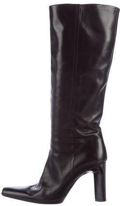 pradaPrada Pointed-Toe Knee-High Boots