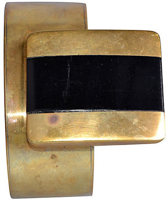 One Kings Lane Vintage Handmade Solid Brass Bracelet - Galleria d'Epoca