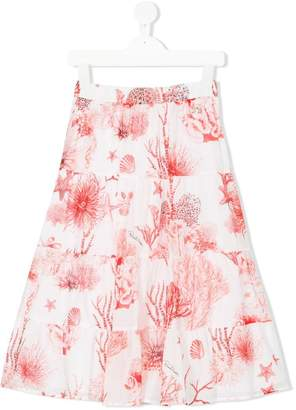 Roberto Cavalli star fish printed skirt