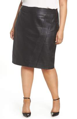 Sejour Leather Pencil Skirt