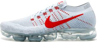 Nike Vapormax Flyknit 'OG' - Pure Platinum/University Red