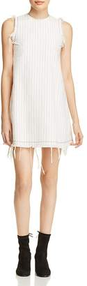 T by Alexander Wang Frayed Pinstripe Shift Dress $395 thestylecure.com