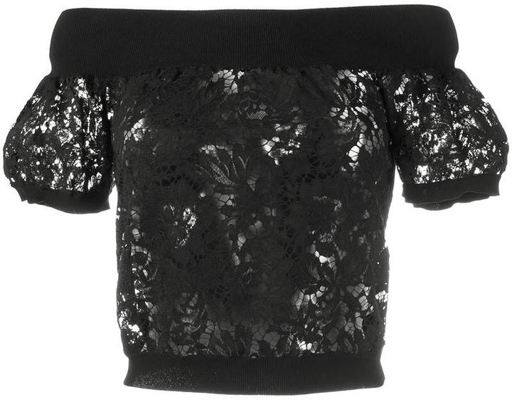 ValentinoValentino off the shoulder lace top
