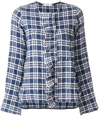 Lareida tartan ruffle blouse