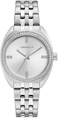 Caravelle Women's Stainless Crystal Bezel Bracelet Watch