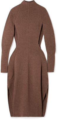 Chloé Cutout Knitted Midi Dress - Brown