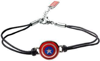 Marvel Comics Marvel Captain America Shield in Black LeatherBracelet