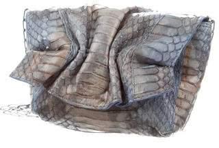Carlos Falchi Snakeskin Shoulder Bag
