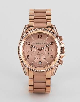 Michael Kors MK5263 Blair Bracelet Watch In Rose Gold