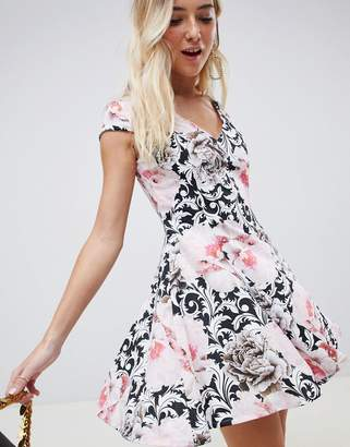 Glamorous a-line floral dress