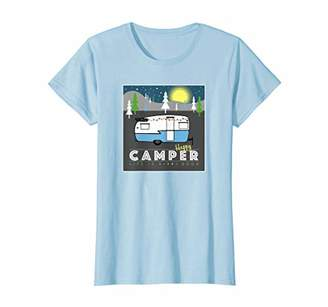 Life is Good Womens Happy Camper Women's T-Shirt Graphic Camp Tee