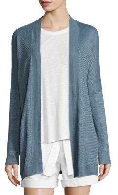 Polo Ralph Lauren Linen-Blend Open-Front Cardigan $198 thestylecure.com