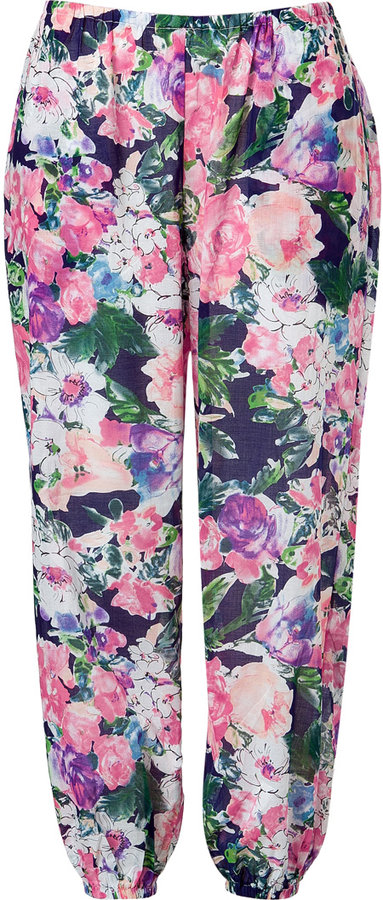 Zimmermann Multicolored Floral Dreamer Track Pants