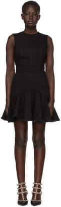 Alexander McQueen Black Mini Denim Dress