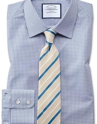 Charles Tyrwhitt Classic fit small gingham grey shirt