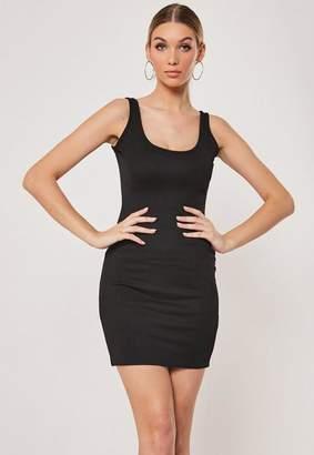 Missguided Black Sleeveless Scoop Neck Bodycon Mini Dress