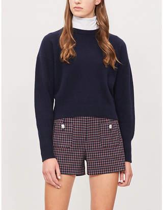 Claudie Pierlot Eliott checked woven shorts