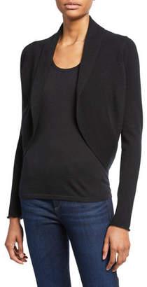 Neiman Marcus Long-Sleeve Cashmere Open-Front Shrug