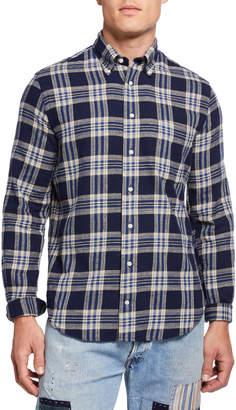 Gitman Brothers Men's Plaid Button-Collar Sport Shirt