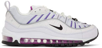 Nike Grey and White Air Max 98 Sneakers