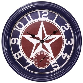 La Crosse Clock 404-3012TX 12 Inch Indoor/Outdoor Clock with Temperature