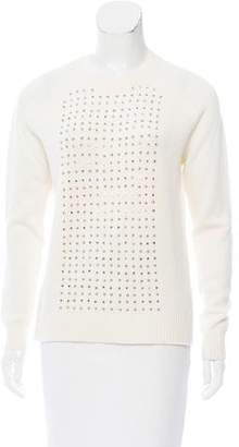 Wes Gordon Embellished Wool-Blend Sweater