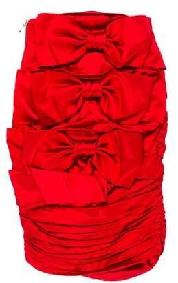 Thomas Wylde Silk Pleated Mini Dress